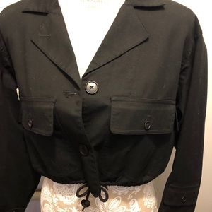 EUC LRL Button Up Crop Jacket